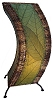 Arc Cocoa Leaf Table Lamp in Green