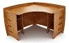 47 Inch x 47 Inch Bamboo Corner Desk