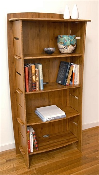 59 X 31 Organic Bamboo Bookcase