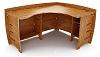 60 Inch X 47 Inch Bamboo Corner Desk