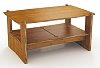 Organic Bamboo Coffee Table - 36 x 22