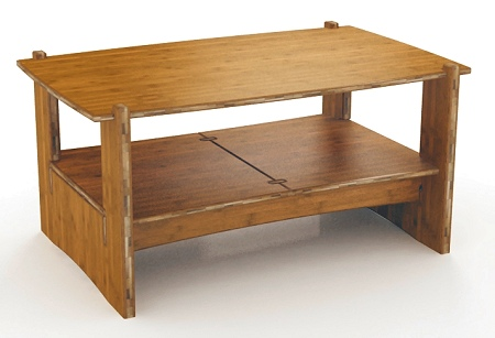 - SOLD OUT Until Late-2017 - Quick Assembly Organic Bamboo Coffee Table