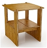 Bamboo End Table - 22 x 22 Inches