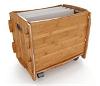 Organic Bamboo File Cart