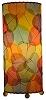 Natural Banyan Cylinder Table Lamp - Multi-Color