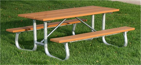 Recycled Plastic Base Camp Picnic Table - Picnic table recycled plastic lumber