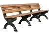 Recycled Plastic Carnegie Bench - 8'