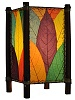 Natural Cocoa and Bamboo Kalani Table Lamp - Multi-Color