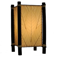 ... Natural Cocoa Leaf And Bamboo Kalani Table Lamp ~ Natural