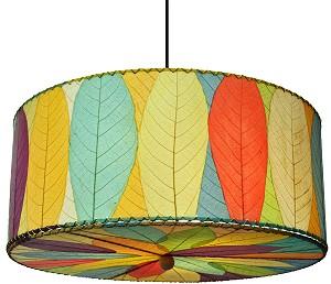 Natural cocoa leaf hanging drum pendant lamp natural cocoa leaf hanging drum pendant lamp in multi color aloadofball Images