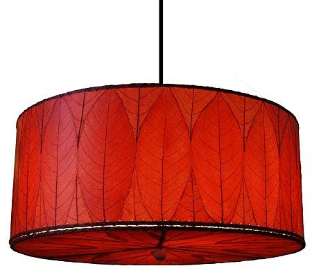 Natural cocoa leaf hanging drum pendant lamp aloadofball Choice Image