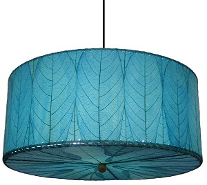 Natural cocoa leaf hanging drum pendant lamp natural cocoa leaf hanging drum pendant lamp in sea blue aloadofball Image collections