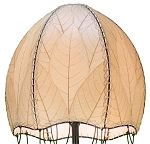 Natural Cocoa Leaf Jelly Fish Floor Lamp ~ Natural