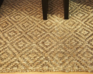 Diamond Jute Area Rug Close-up