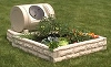 Raised Bed Watering Faux Granite Garden with Rotating Composter