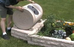 Faux Granite Garden Kit with Rotating Composter Easy Tumble of the Composter