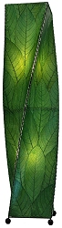 Helix Cocoa Leaf Floor Lamp in Green