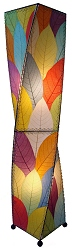 Helix Cocoa Leaf Floor Lamp in Multi-Color
