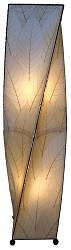 Helix Cocoa Leaf Floor Lamp in Natural