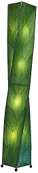 Helix Cocoa Leaf Tall Floor Lamp in Green