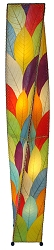 Helix Cocoa Leaf Tall Floor Lamp in Multi-Color