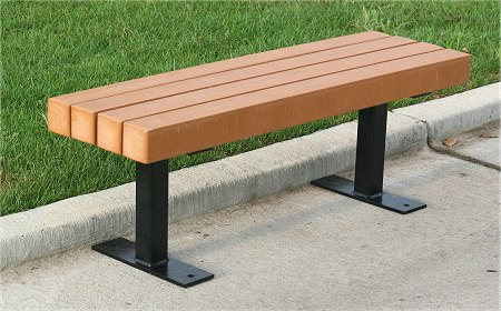 Awe Inspiring Recycled Plastic Lake Forest Bench Evergreenethics Interior Chair Design Evergreenethicsorg