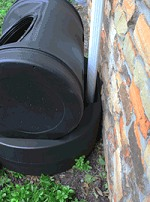 The Mizer Composter Rain Water Barrel Combo from Abundant Earth