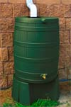 Green Rain Barrel and Stand