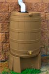 Khaki Rain Barrel and Stand