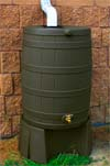 Oak Rain Barrel and Stand