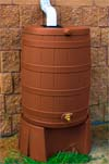 Terra Cotta Rain Barrel and Stand