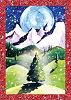 Moonlit Recycled Paper Card