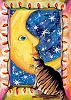 Mouki and the Moon Recycled Art Card