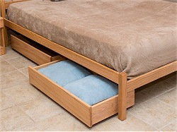 Neahkahnie Underbed Drawers with Oak Fronts and Poplar Sides