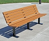 Recycled Plastic New Contour Bench