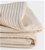 Organic Cotton Striped Chenille Herringbone Blankets from Abundant Earth