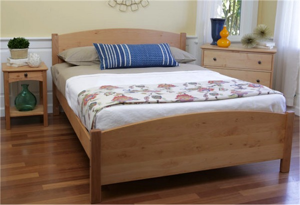 pacific rim classic maple platform bed - Maple Bed Frame