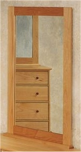 Optional Pacific Rim Three and Six Drawer Maple Mirror Frame
