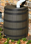 Picture shows Optional Black Stained Ribbing on Oak Colored Barrel