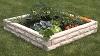 Raised Bed Watering Faux Granite Garden