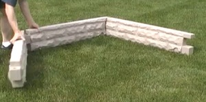 Easy Assembly of the Raised Bed Watering Faux Granite Garden Kit