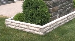 Faux Granite Sections Used to Create Plant Boarders