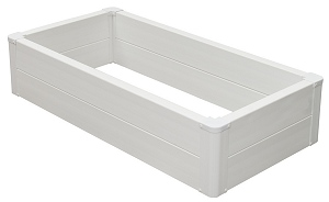 """Recycled Raised Bed Garden Kit ~ 10.5"""" Two-Rail"""