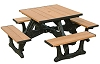 Recycled Plastic Versailles Square Picnic Table