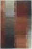 Ripples Red Authentic Fair Trade Tibetan Wool Rug