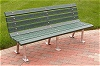Recycled Plastic Saratoga Village Bench