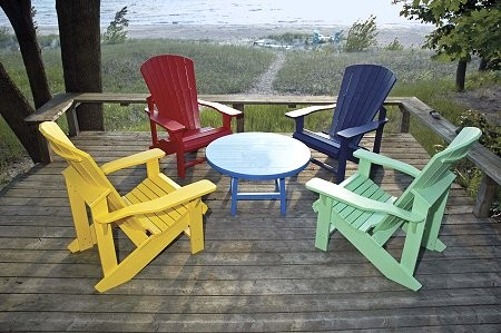 Merveilleux Recycled Plastic Shell Beach Adirondack Chairs And Tables Available In 15  Different Colors!