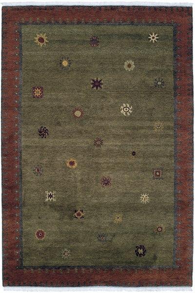Starfield Moss Authentic Fair Trade Tibetan Wool Rug
