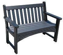 4' Tahoma Bench in Black