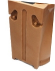 The Terra Cotta Rain Barrel with Top-Side Planter BACK